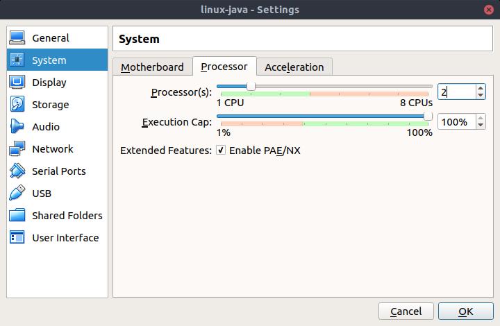 Create a minimal CentOS 7 Virtual Box image for Java application